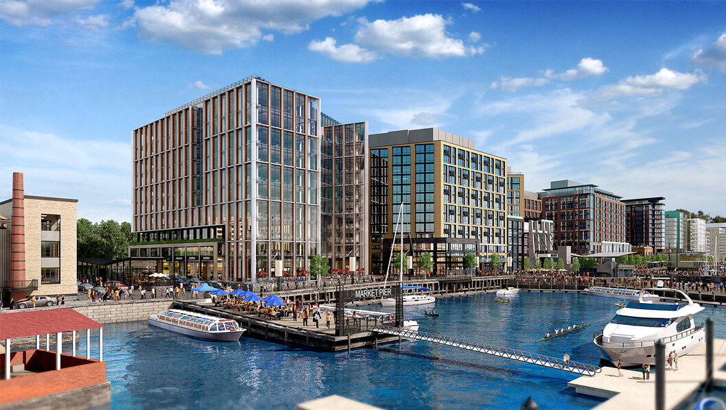 The new Incanto apartments are in the perfect location on the river with unparalleled views of DC's Southwest waterfront.